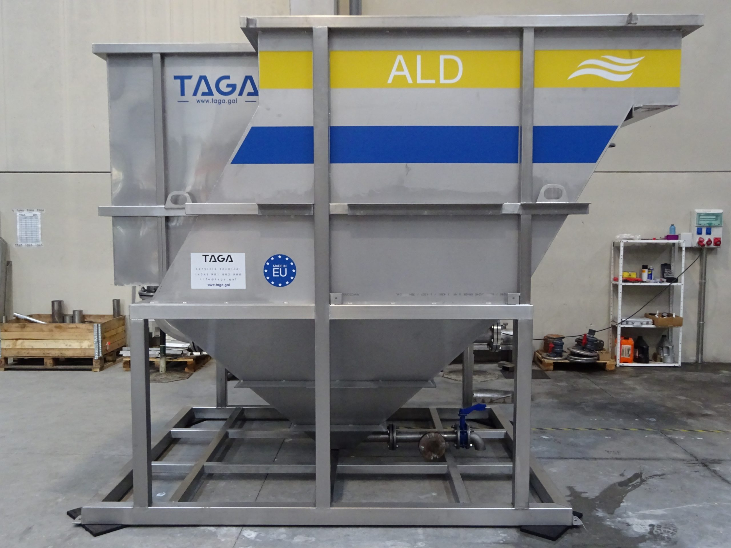 Decantador Lamelar Residuales - TAGA - Tecnología Ambiental Gallega